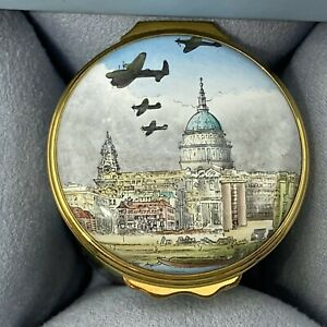 """Halcyon Days Enamels Box """"VE Flyover, 8th may 1945"""" Limited Edition 42/250"""