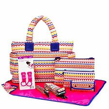 Designer Baby Diaper Bag Tote CiPU ECO 9 Pieces Combo Set Rainbow
