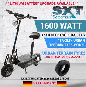 Electric Scooter BLACK SXT 2020 XL 48V 1600W 12ah DEEPCYCLE TURBO Urban Terrain