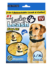 Lucky Leash, Retractable Dog Leash and Collar 2 in 1 for Dogs 36-80 Lbs