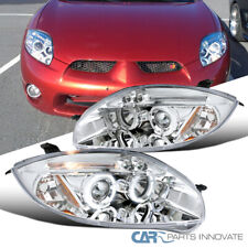 For 06-11 Mitsubishi Eclipse Clear Halo Projector Headlights Head Lights Lamps