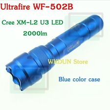 Blue Case UltraFire WF-502B Cree XM-L2 U3 2000LM 5-Modes L2 Led Flashlight Torch
