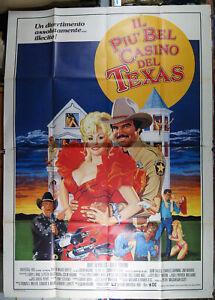 manifesto 4F film IL PIU' BEL CASINO DEL TEXAS Burt Reynolds Dolly Parton 1983