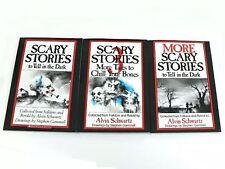 3 Book Set: SCARY STORIES to Tell in the Dark 1 2 & 3 Alvin Schwartz Best Movie