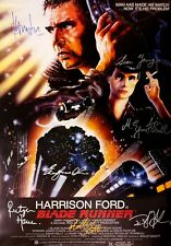 Blade Runner Movie Poster Signed by 7 cast members Excellent condition replica