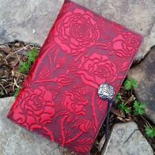 """Wild Rose Red Large 6""""x9"""" Leather Journal by Oberon Design COMBINED SHIPPING"""