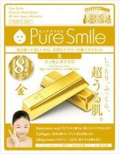 Pure Smile Essence Mask 8pcs Set Gold Skin Mask Japan