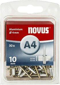 Novus Blindniete A4 10 mm Ø 4 mm Aluminium 30 Stück