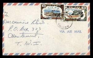 DR WHO 1972 ANGUILLA VALLEY AIRMAIL TO MONTSERRAT  f66016
