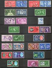 GB QE2 1953 - 1970  COMMEMORATIVE INDIVIDUAL SETS - Multiple Listing - fine used