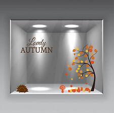 adesivi vetrine foglie autunno inverno negozi vetrofanie stickers leaves autumn