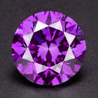 CERTIFIED .071 cts. Round Vivid Purple Color SI Loose Real/Natural Diamond 1D