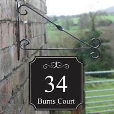 Personalised Hanging House sign, House Number Plaque, Robust House Name Sign
