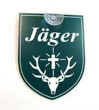 Jäger,Jagd,Jagen,Hunter,m. Sauger,9 x 7 cm,Gravurschild,Hund,Keiler,Wildschwein
