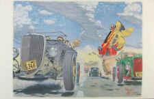 HOT ROD RACE ROBERT WILLIAMS RARE POSTER LOWBROW ART
