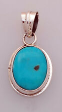 Navajo Sterling Silver Pendant w/ Blue Turquoise