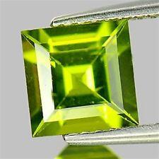 1.80 CT ~  Green Peridot SQUARE cut ~ Natural Gemstone