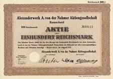 Lot 50 alte Aktien Alexanderwerk AG Remscheid 1937 historische Wertpapiere NRW