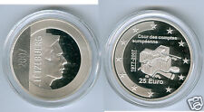 Luxemburgo 25 euro 2007 Europ. tribunal de cuentas plata pp