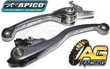 Apico Flexi Lever Set Titanium Clutch Lever Brake Lever KTM SXF 450 2009-2012