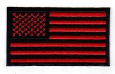 American Flag - Military, Veteran, MM / MC Biker Vest / Jacket Patch (red)
