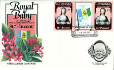 St VINCENT 1982 BIRTH OF PRINCE WILLIAM 50c GUTTER PAIR FIRST DAY COVER (a)