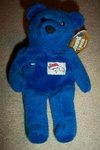 SALVINOS BAMMERS JOHN ELWAY BLUE PLUSH BEAN BAG BEAR 1999