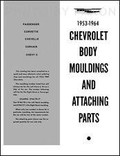 Chrome Trim Molding Catalog Chevy II and Nova El Camino Chevelle 1962 1963 1964