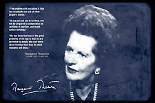 Margaret Thatcher ART PRINT PHOTO POSTER REGALO Lady di ferro Maggie