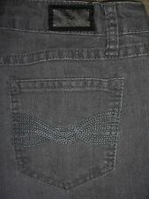 EARL JEAN Straight Leg Stretch Gray Denim Jeans Womens Size 4 x 30