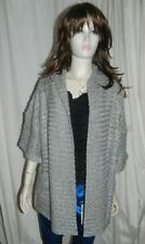 Atmosphere Chunky Silver Knitted Thick Long Cardigan size 8  NEW RRP £12