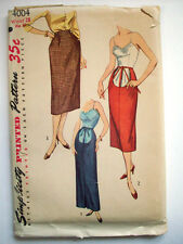 1950's Women's Maternity skirt open front option pattern 4004 sz waist 28