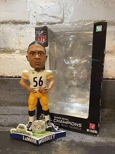 LAMARR WOODLEY Pittsburgh Steelers / Michigan Wolverines SB XLIII Bobblehead NIB