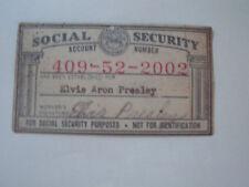ELVIS PRESLEY REPRO. SOCIAL SECURITY CARD MINT