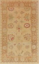 Antique Muted VEGETABLE DYE Geometric Oushak Area Rug Oriental Hand-Knotted 5x7