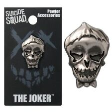 Suicide Squad NEW * The Joker Lapel Pin * Pewter Skull Charm Pin Back Licensed
