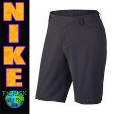 Nike Men's Size 40 Woven Stripe Standard Fit Golf Shorts 833226 Grey/Black