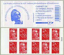 Carnet C1514 - Les 60 ans de la Marianne de Gandon - 2006