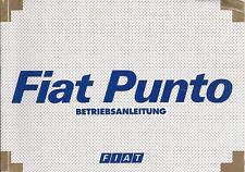 Betriebsanleitung Fiat Punto Handbuch Ausgabe 1999