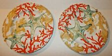"Bed Bath & Beyond Cayman Melamine 9"" Dessert Luncheon Salad Plates X 2"