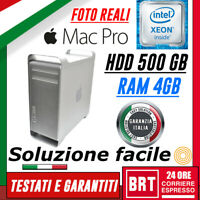 PC DESKTOP COMPUTER FISSO APPLE MAC PRO A1186 CPU XEON RAM 4GB 500GB HDD OTTIMO!