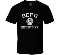 GCPD GOTHAM CITY POLICE batman shirt black white tshirt men's free shipping