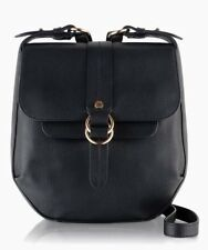 RADLEY LONDON BLACK PREMIUM LEATHER TRINITY SQUARE CROSS BODY FLAPOVER BAG BNWT