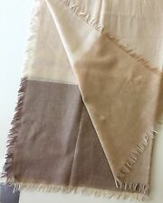 NORDSTROM Woman Combo Camel/ Brown Cashmere & Silk Fringe Scarf NWT Org.$98