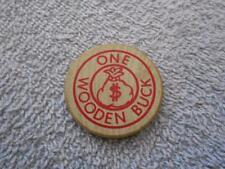 GOLDEN CORRAL RESTAURANT MIAMI OKLAHOMA WOODEN NICKEL 1995 BUCK TOKEN $1 OFF