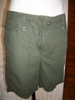 Short  pantacourt bermuda coton kaki AIGLE taille 42 brodé logo rouge n37