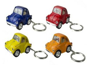 1 X DIECAST MINI BEETLE KEYCHAIN 5CM Volkswagon classic car collectible models