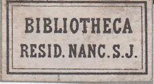 § EX-LIBRIS DES JÉSUITES DE NANCY - XIXème siècle §