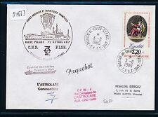 04563) Antarktis Frankreich TAAF Paquebot 3.8.89, signed