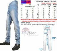 BNWT NEW MENS JEANS PANTS SKY BLUE BRANDED TROUSERS WAIST SIZE 30 32 34 36 38 40